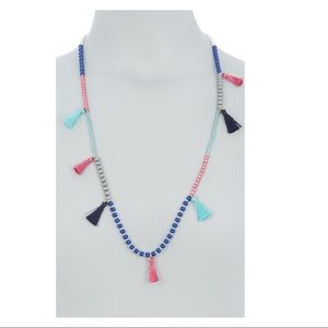 J.Crew Beaded Tassel Necklace New